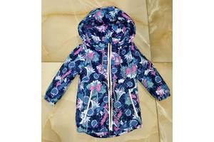 Осенняя термо куртка для девочек 1 - 8 лет