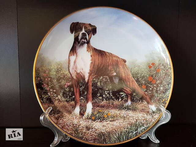 Продам фарфоровые декоративные коллекционные тарелки с разными породами собак.