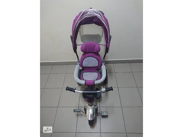 купить бу Детский трёхколёсный велосипед-коляска Ardis Maxi Trike фиолетовый в Киеве