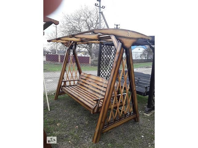 продам Качели раскладные деревянные бу в Виннице