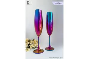 Набор бокалов для шампанмкого Bohemia Milvus 250 ml (цвет: РАДУГА)