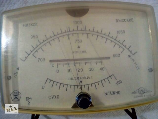 купить бу Барометр анероїд СРСР. тиск. Вологість. температура в Вінниці