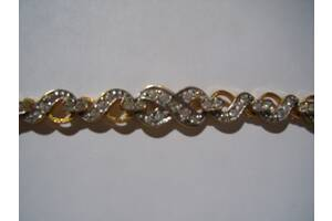 Шикарный позолоченный браслет фирмы jenavi