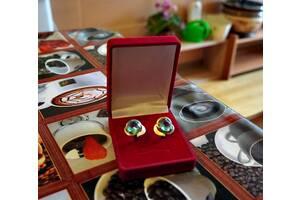 Комплект ювелирных украшений серьги и кольцо с топазом