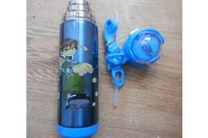 Термос 500 мл для мальчиков с трубочкой
