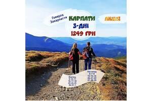 Відпочинок в Карпатах та Закарпатті + Говерла (триденний тур)