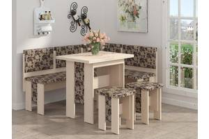 Кухонный уголок Аристократ: раскладной стол, два табурета