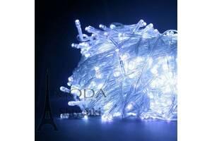 ХИТ ПРОДАЖИ! - Гирлянда электрическая LED 100, на 100 лампочек, черный провод, длина: 6.5 метров