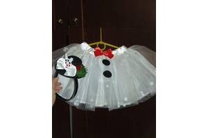 Юбка юбочка фатинова белая костюм на утреник снежинка карнавальная