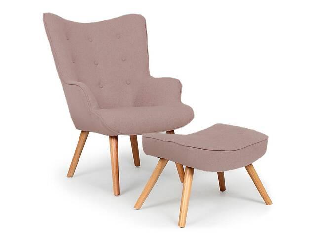купить бу Кресло м& # 039; которое кашемир с табуреткой для ног Флорино (кресло Contour с оттоманкой) в Днепре (Днепропетровск)