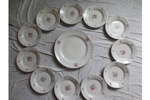 Комплект тарелок советских новых с позолотой