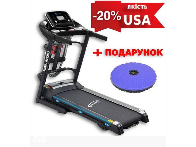 купить бу Беговая дорожка USA T350M King Sport + масаж + Подарок!  в Киеве