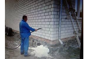 Утепление стен домов пеноизолом. (жидкий пенопласт)