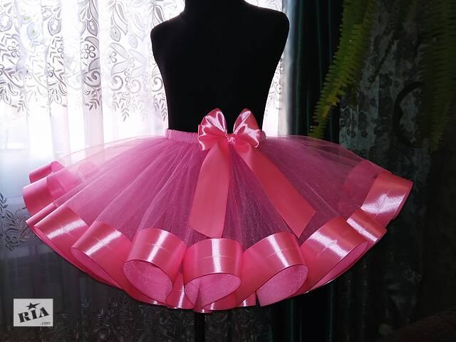 купить бу Юбка пачка для девочки супер пышная розовая 4-6 лет костюм Бусинка кукла цветочек в Белой Церкви