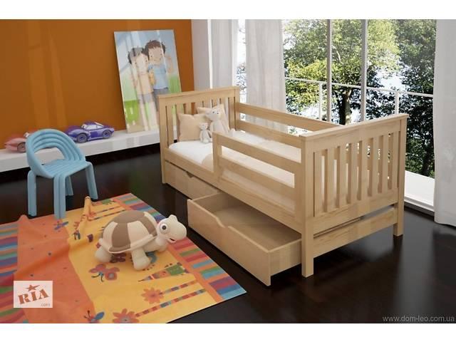 Детская деревянная кровать Адель с бортиками и ящиками