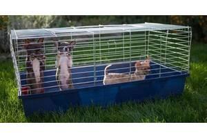 Клетка, переноска, манеж для кролика, хорька, собак, кошек 100х54х45h