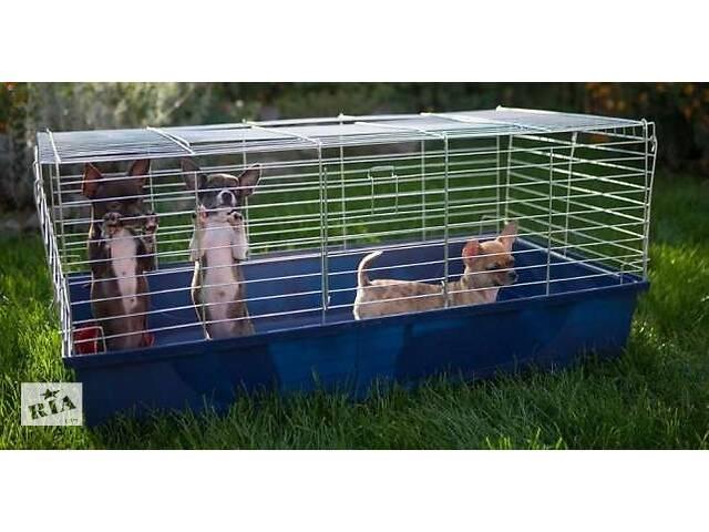 бу Клетка, переноска, манеж для кролика, хорька, собак, кошек 100х54х45h в Киеве