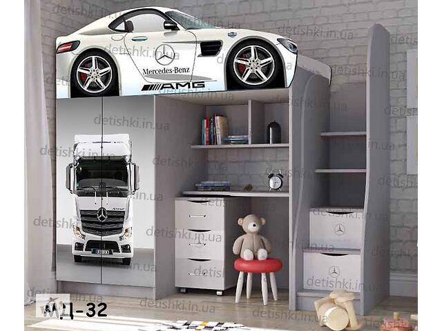 купить бу Детская кровать машина чердак кроватка для подростка мальчика и девочки  в Киеве