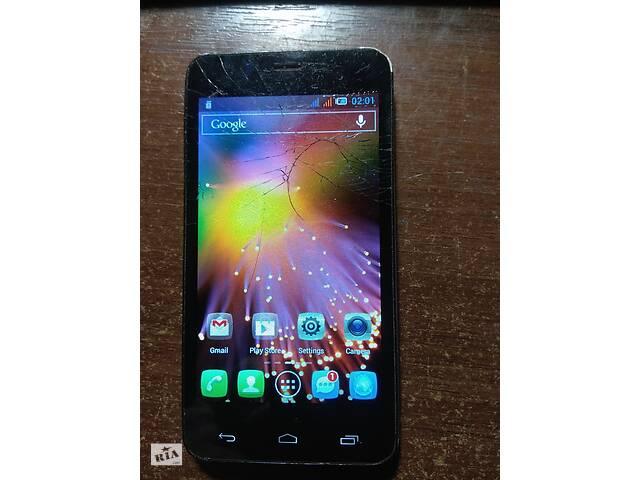 купить бу Смартфон Alcatel One Touch 6010D 2 сим треснут сенсор.рабочий в Тернополе