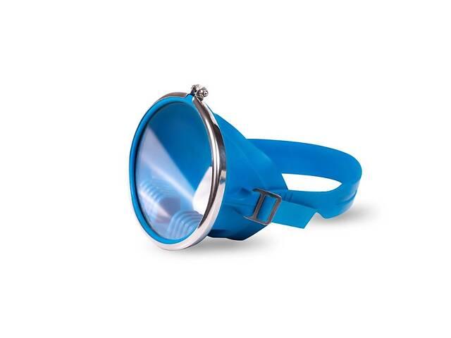 купить бу Маска для підводного плавання (глибинка синя) нова Краща ЦІНА в Лисичанську