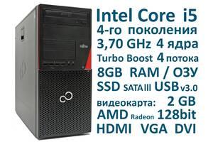 8 Гб оперативної пам'яті, Intel Core i5 4 ядра 3,70 GHz, SSD, Системний блок Fujitsu з Німеччини