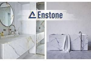 Столешница в ванную из искусственного камня (акрил) на заказ. Акриловая столешница для ванной комнаты под заказ