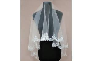 Свадебная фата (с кружевами)вышивка, вишивка, кружево,белая.айвори