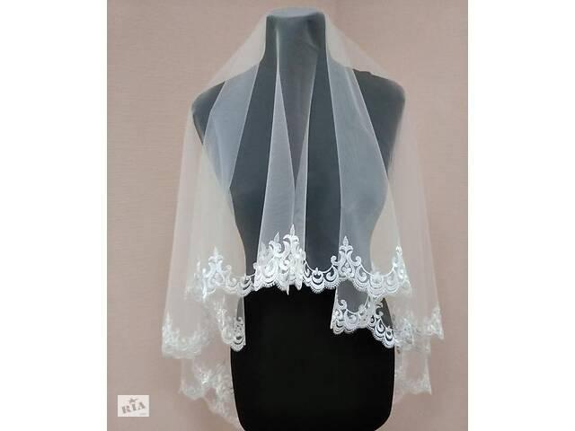 бу Свадебная фата (с кружевами)вышивка, вишивка, кружево,белая.айвори в Миргороде