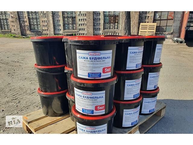 купить бу Сажа строительная (ведро 11,3 л)  в Запорожье