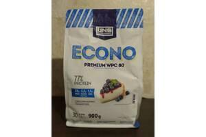 Протеин UNS Premium WPC 80 900 г  Черничный чизкейк