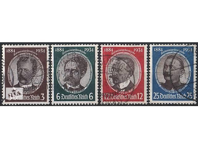 бу 1934 - Рейх - Колонизаторы Mi.540-43 _38,0 EU в Ровно