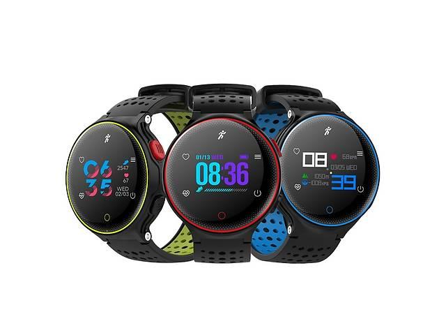 продам Умные спортивные водонепроницаемые часы браслет smart band X2 RAZY COLOR IP68 Blue Пульс. Давление бу в Киеве