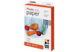 Бумага ColorWay A4, 220г, matte, 50л (PM220050A4)