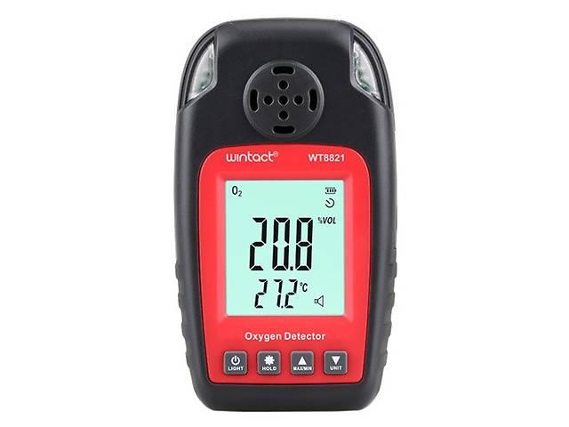 купить бу Датчик концентрации кислорода O2 + термометр (0-25% VOL, 0-50°C) WINTACT WT8821 в Львове