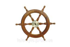 Декоративный штурвал Sea Club 550254 60х60 см. деревянный