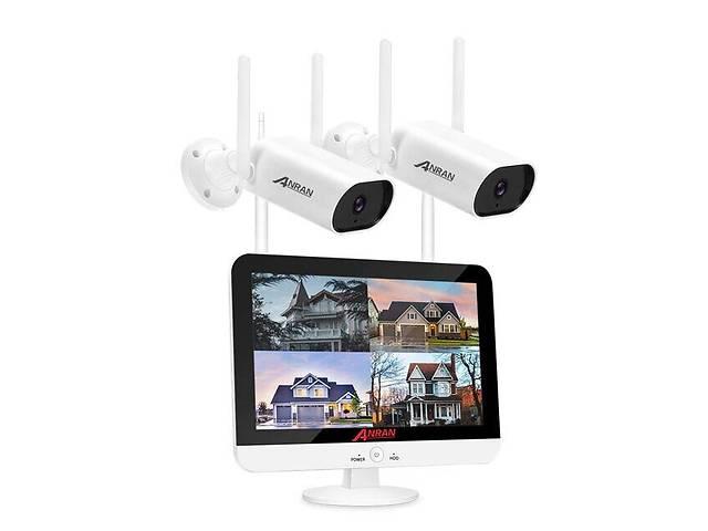 Комплект видеонаблюдения wifi 2 камеры Anran AR-2W c 13