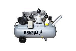 Компрессор трехцилиндровый ременной 380В 3кВт 610л/мин 10бар 135л sigma 7044711