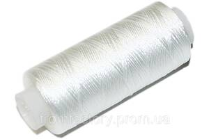 Нитки шелковые (для бисера) белые 150D
