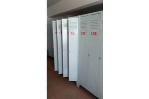 Продам металлические шкафы б/у для спецодежды(четырех створчатые)