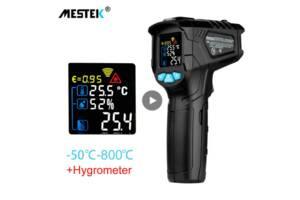 Пірометр, термометр -50~800C MESTEK IR01D+гігрометр