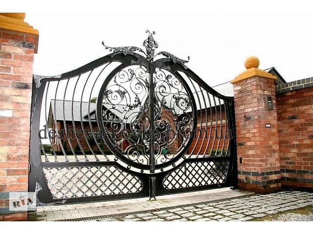 купить бу Распашные ворота кованые с калиткой  в Украине