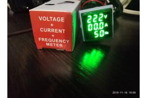 Цифровой индикатор 3 в 1 вольтметр амперметр частотометр