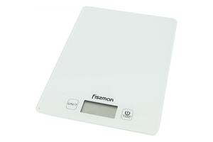 Весы кухонные Fissman 19х14х1,4 см белые 0320 F