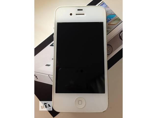 бу IPhone 4, 16 GB White в Киеве