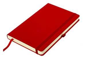 Блокнот Thinkme Silky красный с твердой обложкой