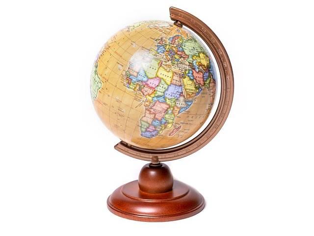Глобус политический 110 мм на деревянной подставке BST 540219- объявление о продаже  в Одессе
