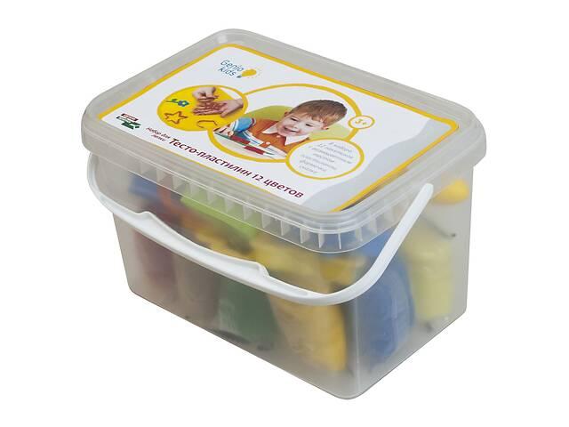продам Набор для детского творчества Genio Kids Тесто-пластилин, 12 цветов с аксессуарами бу в Киеве