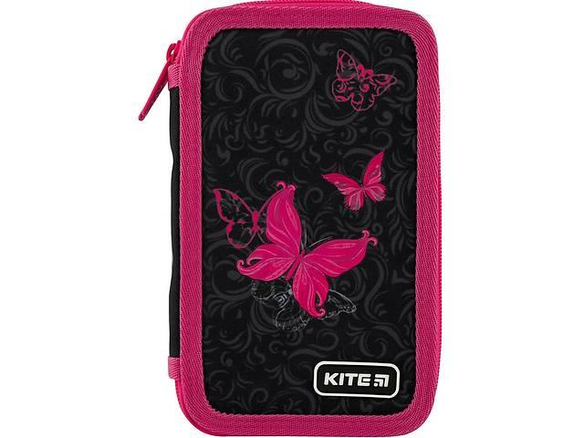 купить бу Пенал без наполнения Kite Education Butterfly tale черный с розовым в Киеве