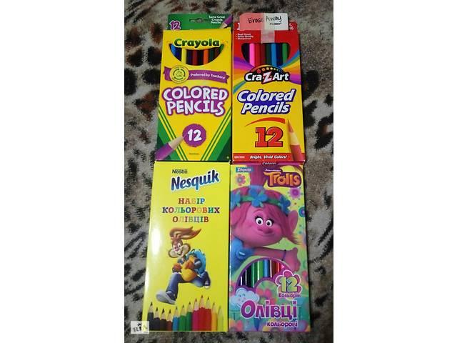Цветные карандаши 12 цветов Crayola CrazArt 1 вересня Тролли Несквик Супер карандаши, очень яркие качественные мягкие- объявление о продаже  в Мариуполе