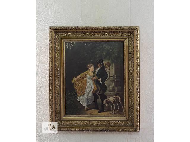 Картина маслом по дереву, Франция 1880-й год- объявление о продаже  в Каменском (Днепропетровской обл.) (Днепродзержинск)